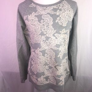Izod Floral Crew Neck Sweater